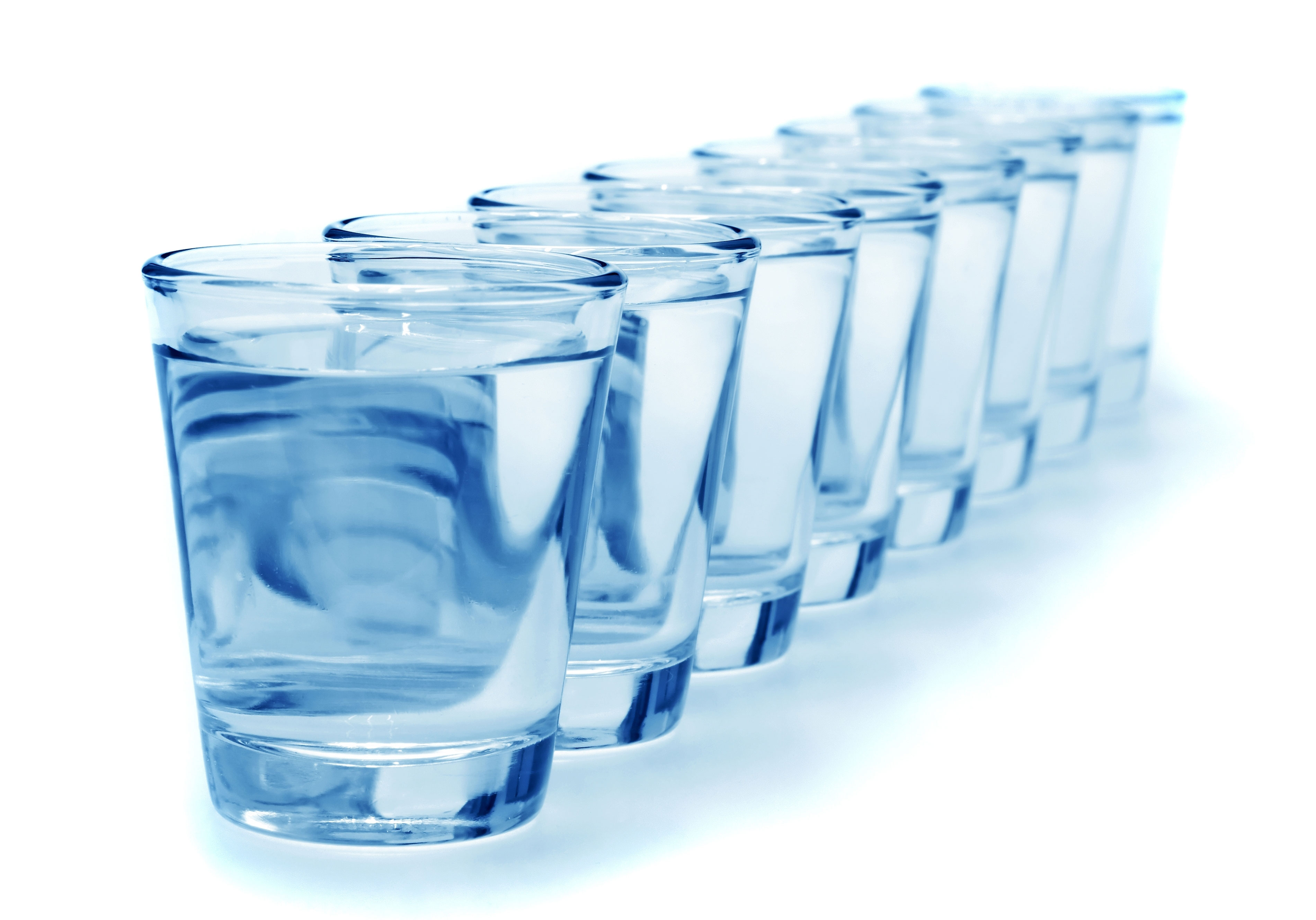 Cups of water for smooth skin