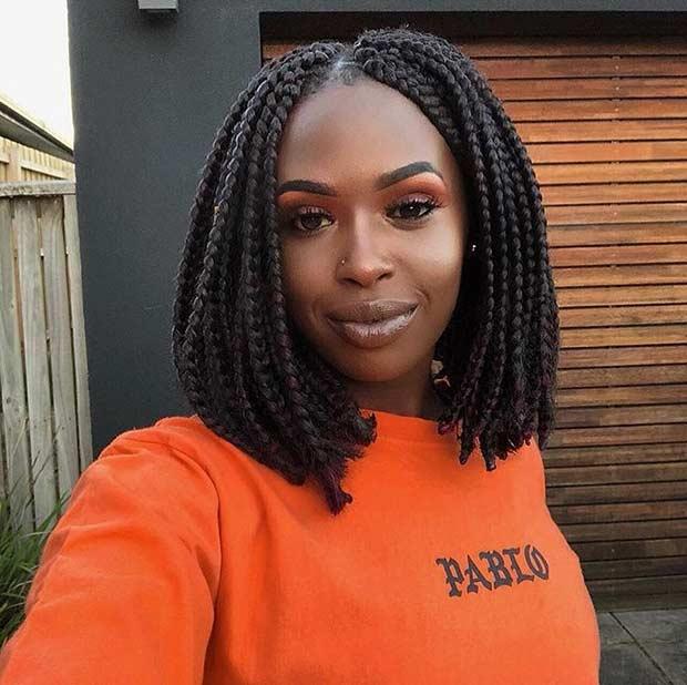 Bob box braids hairstyles