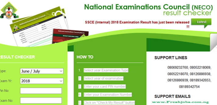 How to check your NECO result.