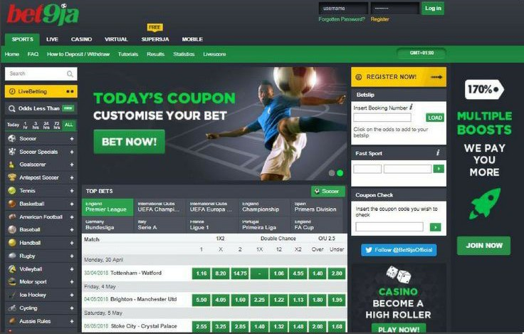 Top football betting sites in Nigeria