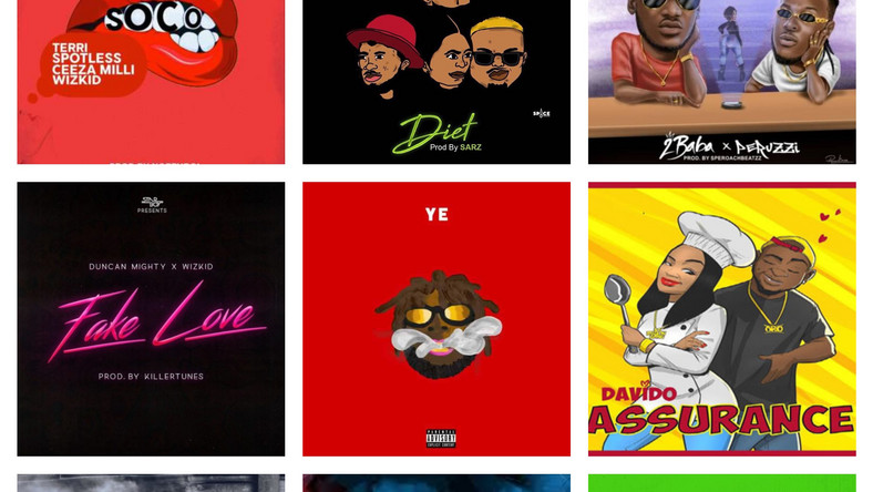 most streamed Nigerian songs of 2018