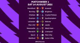 2021/22 Premier League fixtures